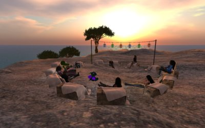 Closeup—Lookout Mountain on Ethnographia Island in Second Life